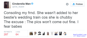 Nigerian lady breaks down after bestie refused to put her on wedding train cos she